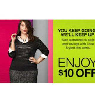 Free $10 Credit to Lane Bryant Stores