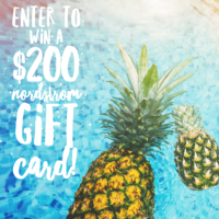 $200 Nordstrom Gift Card Giveaway!
