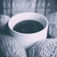 $200 Starbucks Gift Card Giveaway! (Ends January 11th)