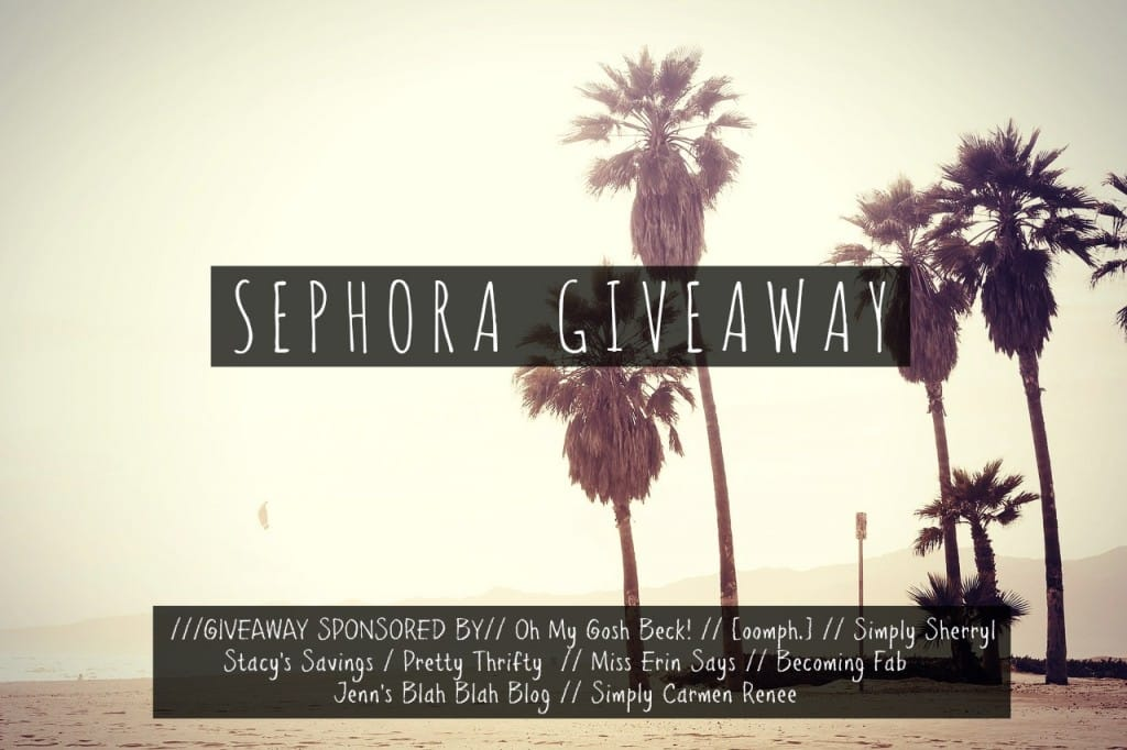$300 Sephora Gift Card Giveaway at PrettyThrifty.com