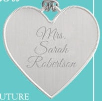 Free Engraved Heart Pendant for New Brides PrettyThrifty.com