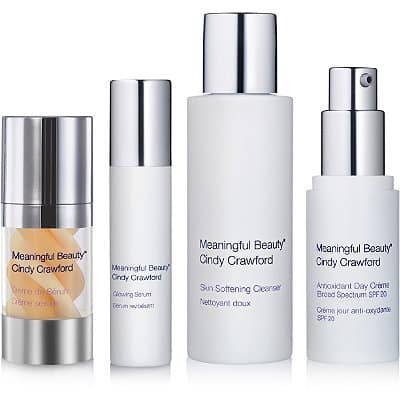 Meaningful Beauty® is a skincare system created by Cindy Crawford and acclaimed French skin rejuvenation expert, Dr. Jean-Louis Sebagh. It features Superoxide Dismutase (