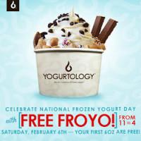 Expired: Free Frozen Yogurt at Yogurtology on Saturday, February 6, 2016