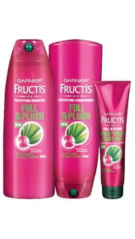 Free Garnier Full & Plush Hair Care Sample Pack PrettyThrifty.com
