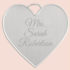 Free Personalized Keepsake Heart Pendant for Brides to Be