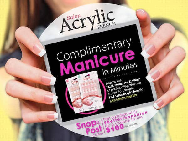 Free Kiss Salon Acrylic French Manicure Kit PrettyThrifty.com