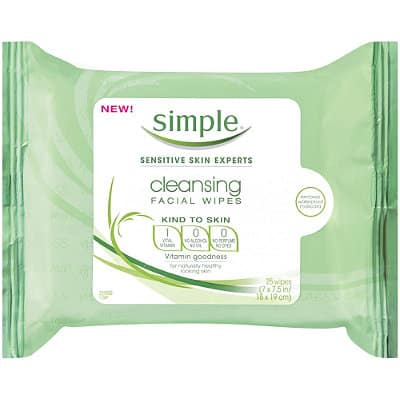 Free Sample of Simple Cleansing Facial Wipes PrettyThrifty.com