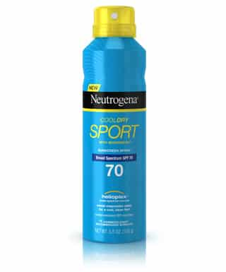 Sample and Review Neutrogena CoolDry Sport Sunscreen Spray Broad Spectrum SPF 70 PrettyThrifty.com