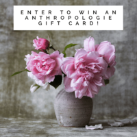 Expired: $100 Anthropologie Gift Card Giveaway!