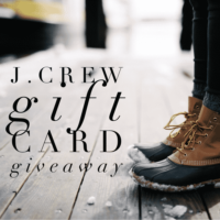 Expired: $200 J. Crew Gift Card Giveaway! (Ends January 5th)