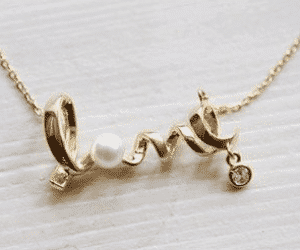 Free Love Word Necklace