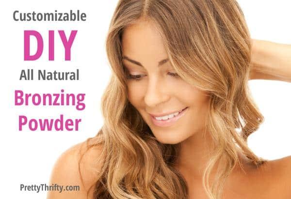 Customizable DIY Homemade Natural Bronzer PrettyThrifty.com