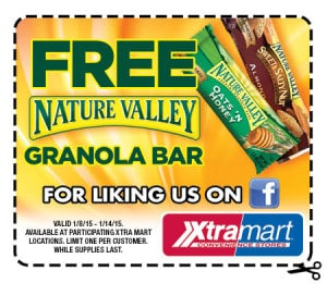 Free Nature's Valley Granola Bar at XtraMart Stores PrettyThrifty.com