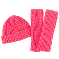 Amicale Cashmere Beanie and Fingerless Gloves