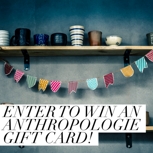 $100 Anthropology Gift Card Giveaway! PrettyThrifty.com