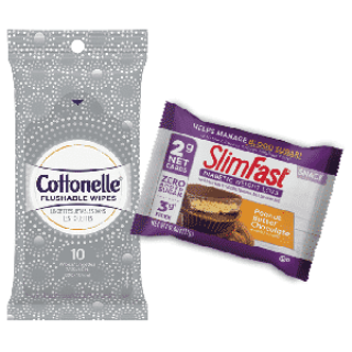 Free Cottonelle Wipes or SlimFast Sample