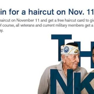 Free Haircut for Veterans on November 11th
