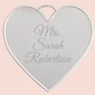 Expired: Free Personalized Keepsake Heart Pendant for Brides to Be