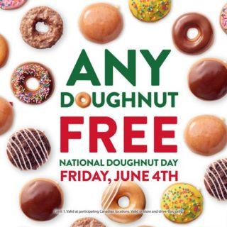 Free Krispy Kreme Doughnut on Friday, June 4th