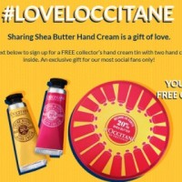 Expired: Two Free Hand Creams and a Collector's Hand Cream Tin from L'Occitane