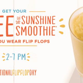 Free Sunshine Smoothie on 6/14