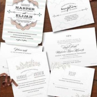 Free Minted Wedding Invitation Samples