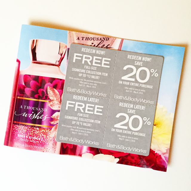 How To Get Bath And Body Works Coupons In The Mail Free Full Size And Travel Size Items Prettythrifty Com
